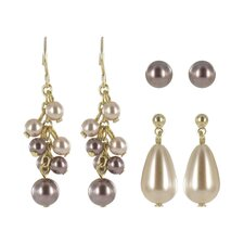 <strong>Roman</strong> Cultured Pearl Trio Earrings