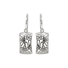 Drops Drop Rectangle Shape Bali Design Earring
