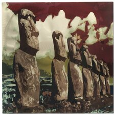 Easter Island Painting Print Plaque
