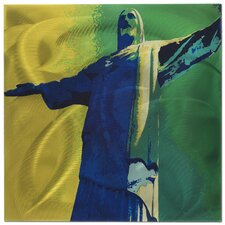 Cristo Redentor Painting Print Plaque