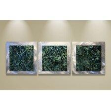 Essence Emerald 3 Piece Graphic Art Plaque Set