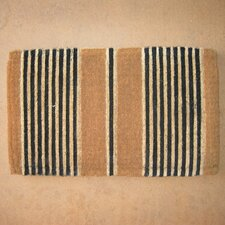 Handwoven Extra Thick Ticking Stripes Coconut Fiber Doormat