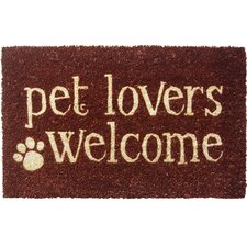 Sweet Home Pet Lovers Welcome Doormat