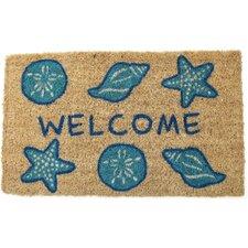 Shells Welcome Hand Woven Coir Doormat