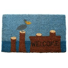 <strong>Entryways</strong> Pelican Welcome Handwoven Coconut Fiber Doormat