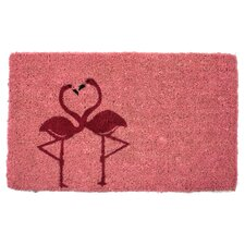 Flamingos Handwoven Coconut Fiber Doormat