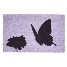 Sweet Home Flower and Butterfly Doormat