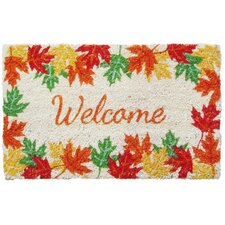 Sweet Home Leaves Welcome Doormat