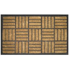 <strong>Entryways</strong> Bootscraper - Recycled Rubber and Coir Criss Cross Doormat