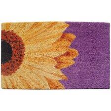 One Sunflower Handwoven  Coconut Fiber Doormat