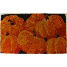 Pumpkins Handwoven  Coconut Fiber Doormat