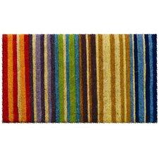Handwoven Extra Thick Rainbow Coconut Fiber Doormat