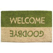 Mid Thickness Coir Welcome / Goodbye Coconut Fiber Doormat