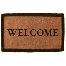 Handwoven Extra Thick Simply Welcome Coconut Fiber Doormat