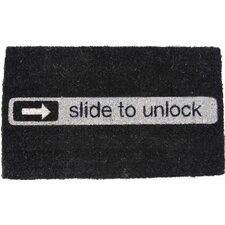 Handmade Slide to Unlock Doormat