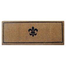 Extra Thickness Coir Fleur Di Lys Coconut Fiber Doormat
