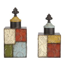 Patch Metal Jar (Set of 2)