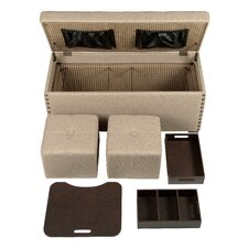 Jonah 5 Piece Office in a Box Ottoman Set