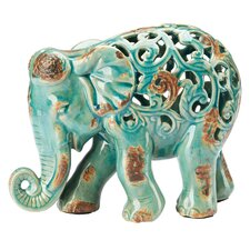 Fretwork Elephant Figurine