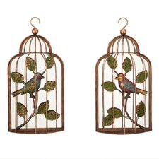 <strong>Bombay Heritage</strong> 2 Piece Aviary Birdcage Wall Décor Set