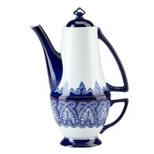 Blue & White Tile Teapot for One Teacup and Pot