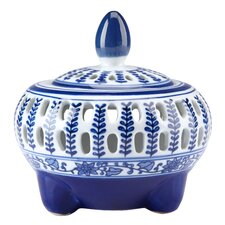 <strong>Bombay Heritage</strong> Blue & White Potpourri Decorative Jar