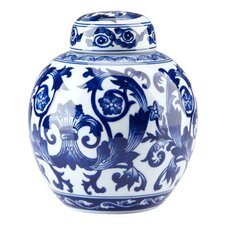 Blue & White Scroll Ginger Jar