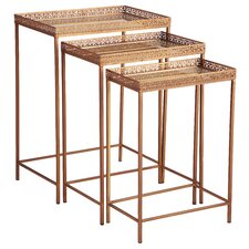 Mirrored 3 Piece Nesting Tables