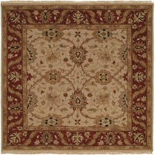 <strong>Wildon Home ®</strong> Ivory / Burgundy Rug