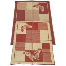 <strong>Fireside Patio Mats</strong> Elegant Butterfly Mat