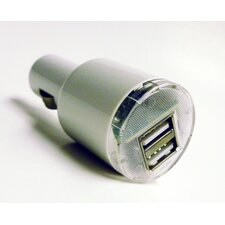 Dual USB Car Charger, 5V 2.1A, White