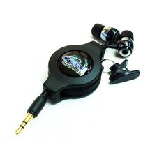 <strong>Tera Grand</strong> Retractable Earphone Cable, Black, 1.2M