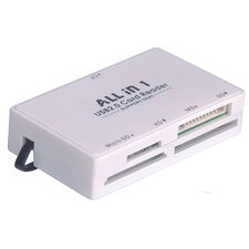 <strong>Tera Grand</strong> USB 2.0 All-in-one Card Reader, White