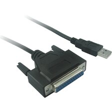 USB to DB25 Female Parallel Cable with Moschip IC