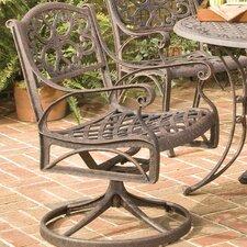 Cast Aluminum Rocking Swivel Dining Arm Chair