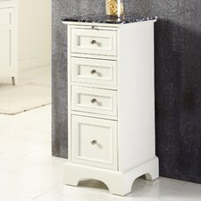 "Naples 14.5"" x 35.5"" 4 Drawer Bath Cabinet"