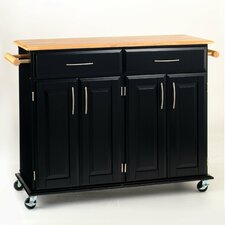 <strong>Home Styles</strong> Dolly Madison Kitchen Cart with Wood Top