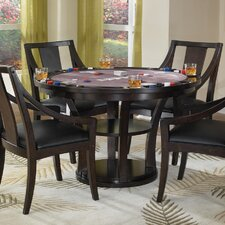 Rio Vista 5 Piece Reversible Poker Table Set