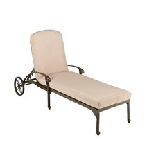 Floral Blossom Chaise Lounge with Cushion