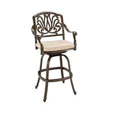 Floral Blossom Barstool with Cushion