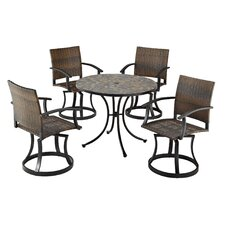 Stone Harbor 5 Piece Dining Set with Newport Swivel Chairs