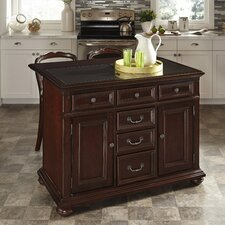 Colonial Classic Kitchen Island with Granite Top