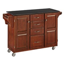 Create-a-Cart Kitchen Island with Granite Top