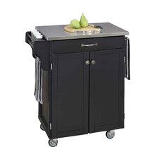 Kitchen Cart with Stainless Steel Top I