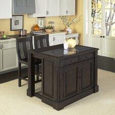 Prairie Home Kitchen Island Set with Granite Top