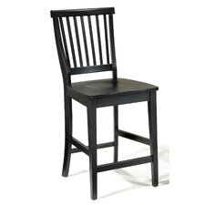 "Arts and Crafts 24"" Counter Stool in Ebony"