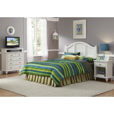 Bermuda Queen Headboard, Nightstand, and Media Chest