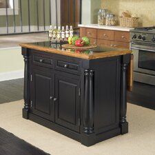 Monarch Kitchen Island with Granite Top