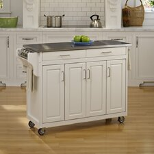 <strong>Home Styles</strong> Create-a-Cart Kitchen Cart with Stainless Steel Top