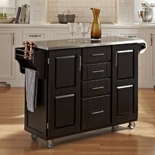<strong>Home Styles</strong> Kitchen Cart with Stainless Steel Top